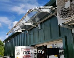 1000x2500mm DIY Door Canopy Polycarbonate Cantilever Garden Porch Patio Walkway