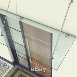 13mm Porch Awning Rain Shelter Outdoor Glass Canopy 2000mm x 900mm