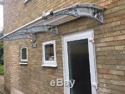 1500x2000mm DIY Door Canopy Polycarbonate Cantilever Garden Porch Patio Walkway