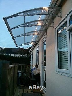 1500x5500mm DIY Door Canopy Polycarbonate Cantilever Garden Porch Patio Walkway