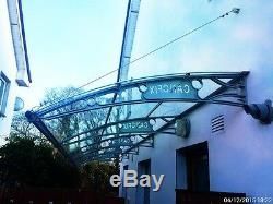 1500x6500mm DIY Door Canopy Polycarbonate Cantilever Garden Porch Patio Walkway