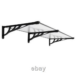 190CM Flat Porch Front Door Canopy Shade Patio Roof Awning Rain Shelter Outdoor