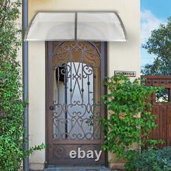 190 x 100 Door Canopy Awning Shelter Front Back Porch Outdoor Shade Patio Roof