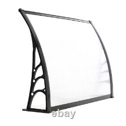 1x Canopy Door Awning Shelter Front Back Porch Outdoor Shade Patio Roof Black UK