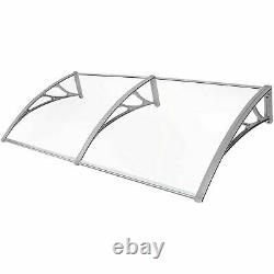 20090cm Door Canopy Awning Shelter Front Porch Shade Patio Roof Rain Cover UK
