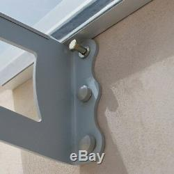 2050mm Window Door Entrance Porch Awning Rain Cover Canopy Shelter Roof Clear