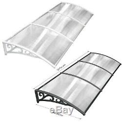 270cm Door Awning Shelter Front Back Outdoor Canopy Porch Window Roof Rain Cover