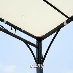 3m x 3m Pergola Gazebo Awning Canopy Sun Shade Door Porch Metal Frame Cover
