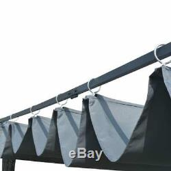 4m/3m x 3m Gazebo Awning Canopy Sun Shade Door Porch Marquee Canopy Sliding Roof