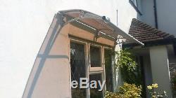 650x2000mm DIY Door Canopy Polycarbonate Cantilever Garden Porch Patio Walkway
