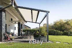 Aluminium Sun Room Hot Tub Shelter Door Canopy Porch Awning Bioclimatic Pergola