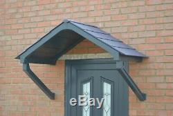 Anthracite Astor Canopy Rain shade Shelter cover door porch DIY awning protect