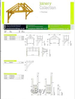 Apex Front Door Porch Canopy Finest Quality Timber 1200mm Inc Gallows Brackets