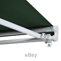 Awning Canopy Shelter-Green Outdoor Sun Window Door Porch Rain Roof Shelter Side