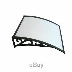 Back & Front Door Canopy Porch Protector Awning Lean To Roof Shelter Shade Cover