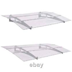 Best! Door Canopy Polycarbonate Porch Awning Rain Shelter Roof 120cm/150cm
