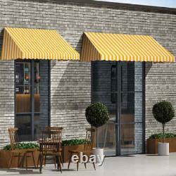 Bistro Awning Window Door Porch Canopy Sun Screen Shelter Showroom Shop Screen