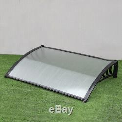 Black Door Canopy Awning Shelters Roof Front Back Porch Shade Patio Rain Covers