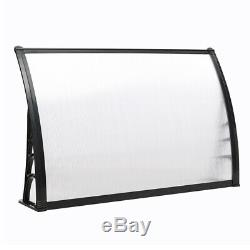 Black/White Door Canopy Roof Cover Awning Shelter Window Patio Front Back Porch