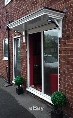 Brand New 2mtr Wide X 600mm Projection Georgian Style Door Canopy /rain Porch