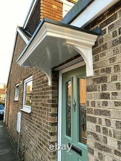 Brand New Georgian Style Grp Door Canopy/porch Plus Curved Grp Brackets