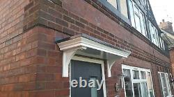 Brand New Georgian Style Grp Door Canopy/porch With Curved Grp Brackets
