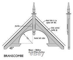 Branscombe Timber Door Canopies Bespoke wooden porch canopy, gallows bracket