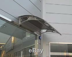 CANOFIX 1000x1000mm DIY Door Canopy Polycarbonate Cantilever Porch Patio Walkway