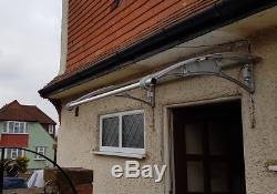 CANOFIX 1000x1200mm DIY Door Canopy Polycarbonate Cantilever Porch Patio Walkway