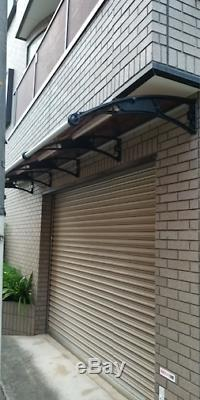 CANOFIX 1000x4000mm DIY Door Canopy Polycarbonate Cantilever Porch Patio Walkway