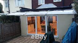 CANOFIX 1000x4500mm DIY Door Canopy Polycarbonate Cantilever Porch Patio Walkway