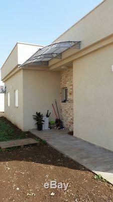 CANOFIX 1000x6500mm DIY Door Canopy Polycarbonate Cantilever Porch Patio Walkway