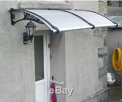 CANOFIX 1270x1500mm DIY Door Canopy Polycarbonate Cantilever Porch Patio Walkway