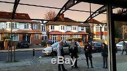 CANOFIX 1270x5500mm DIY Door Canopy Polycarbonate Cantilever Porch Patio Walkway