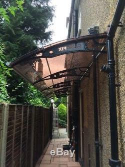 CANOFIX 1270x6500mm DIY Door Canopy Polycarbonate Cantilever Porch Patio Walkway