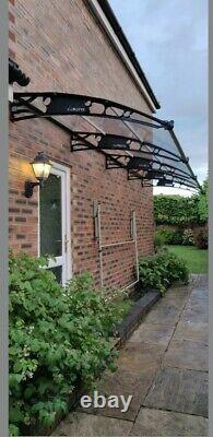 CANOFIX 1500x2000mm DIY Door Canopy Polycarbonate Cantilever Porch Patio Walkway
