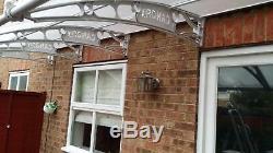 CANOFIX 1500x4000mm DIY Door Canopy Polycarbonate Cantilever Porch Patio Walkway