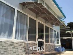 CANOFIX 1500x5000mm DIY Door Canopy Polycarbonate Cantilever Porch Patio Walkway
