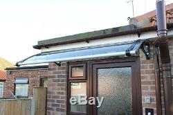 CANOFIX 650x1200mm DIY Door Canopy Polycarbonate Cantilever Porch Patio Walkway