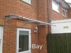 CANOFIX 650x3000mm DIY Door Canopy Polycarbonate Cantilever Porch Patio Walkway