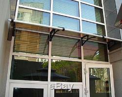 CANOFIX 650x3500mm DIY Door Canopy Polycarbonate Cantilever Porch Patio Walkway