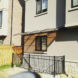 CANOFIX 650x5000mm DIY Door Canopy Polycarbonate Cantilever Porch Patio Walkway