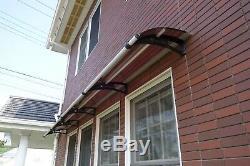 CANOFIX 650x6000mm DIY Door Canopy Polycarbonate Cantilever Porch Patio Walkway
