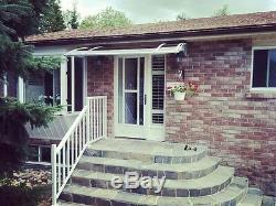CANOFIX 650x 4000mm DIY Door Canopy Polycarbonate Cantilever Porch Patio Cover