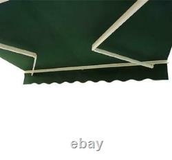 Canopy Manual Retractable Awning Shade Sun Door Patio Porch Rain Cover Shelter
