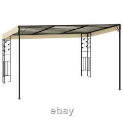 Canopy Metal Wall Gazebo Awning Garden Marquee Shelter Door Porch 4x3x2.5 m