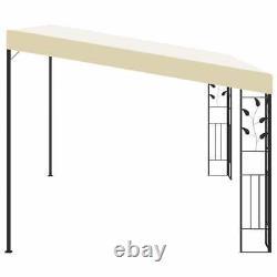 Canopy Metal Wall Gazebo Awning Garden Marquee Shelter Door Porch 4x3x2.5m Cream