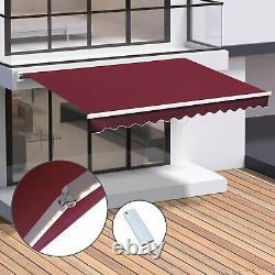 Canopy Motorised Aluminium Awning Remote Outdoor Sun Door Cover Rain Porch Patio