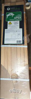 Cheshire Mouldings 1200mm Apex Porch Canopy NewithRipped Packaging