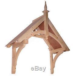 Chilcombe Timber Door Canopies Bespoke wooden porch canopy, gallows bracket